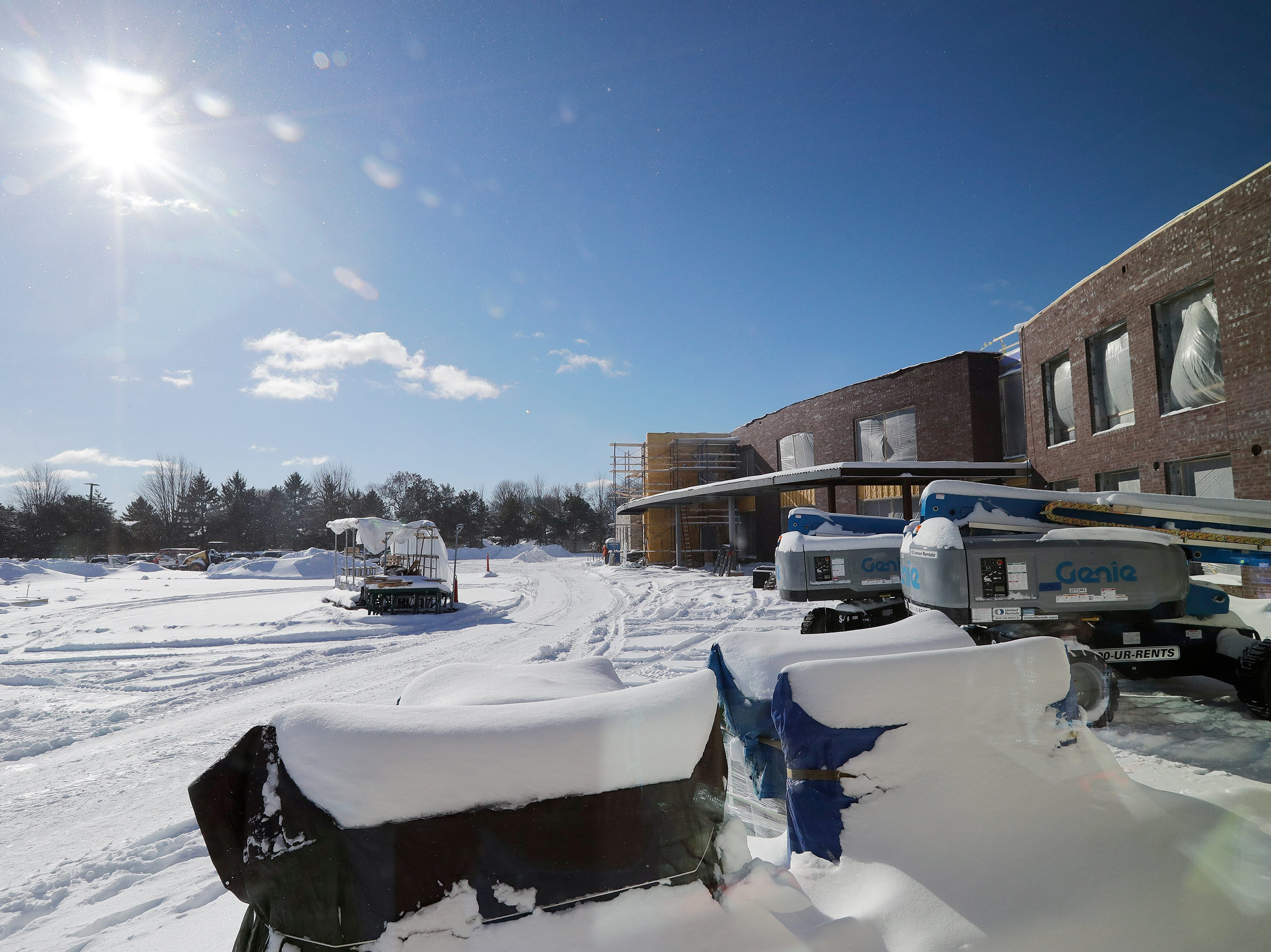 Construction work is ongoing at the new Baird Elementary School, shown on Wednesday, February 13, 2019 in Green Bay, Wis.