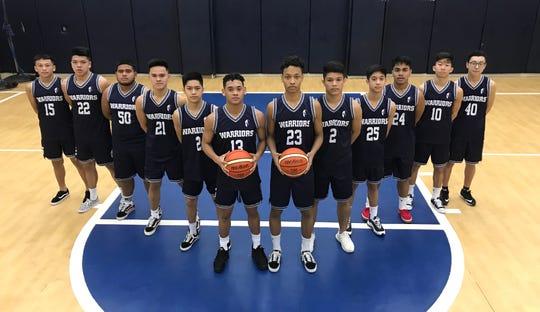 The Saint Paul Christian Warriors boys basketball team.
