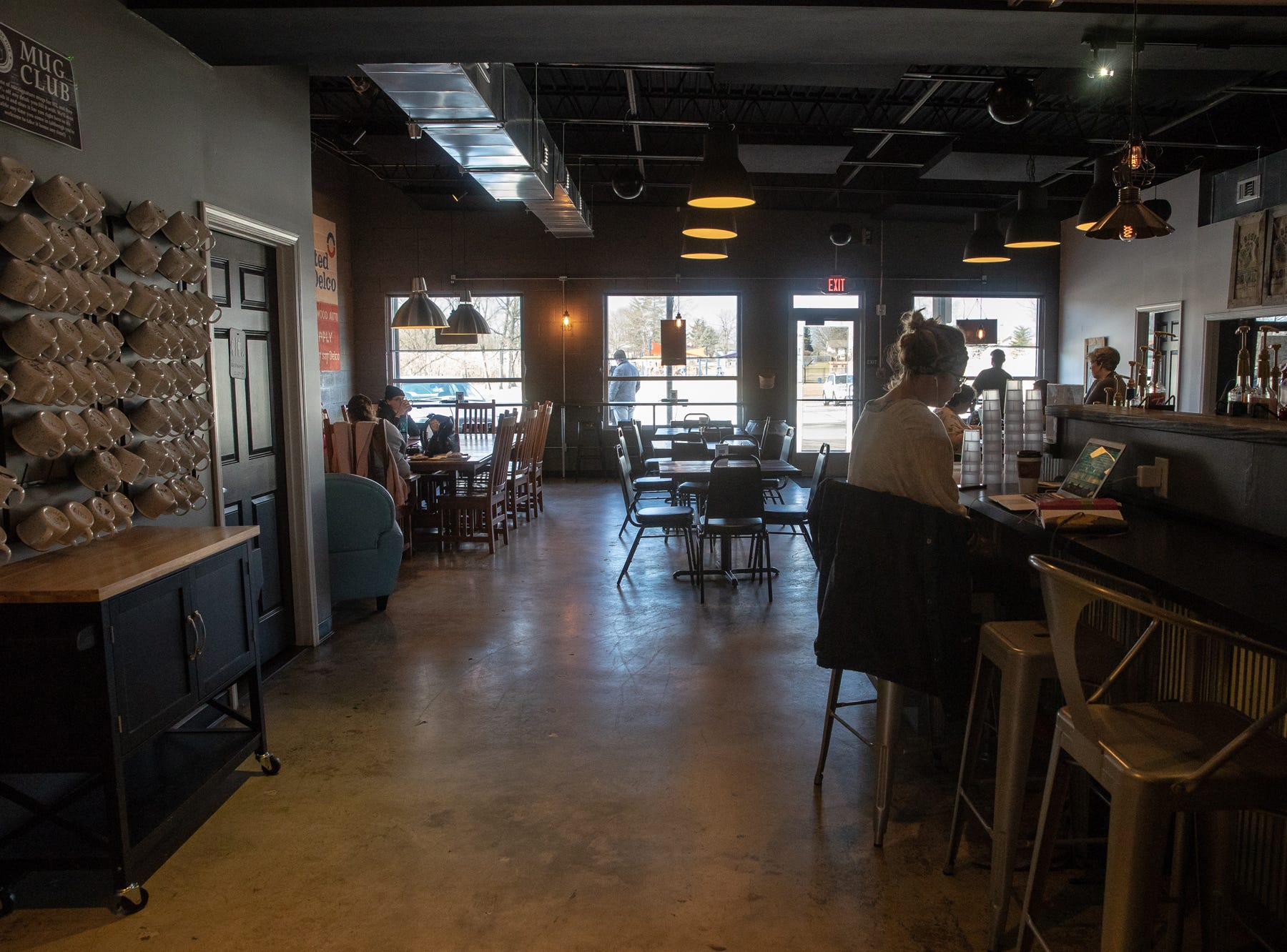 Inside Coffeehouse Five on Wednesday, Feb. 13, 2019. The coffeeshop is located on Market Street in Greenwood, Ind.