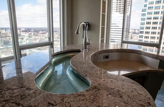 The inside of a 21st floor $4.5M condo for sale inside the residences at The Conrad, a downtown hotel, Indianapolis, Friday, Feb. 8, 2018.