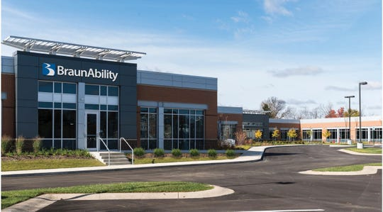 A rendering of BraunAbility's planned technology center in Carmel at West Carmel Drive and Guilford Road.