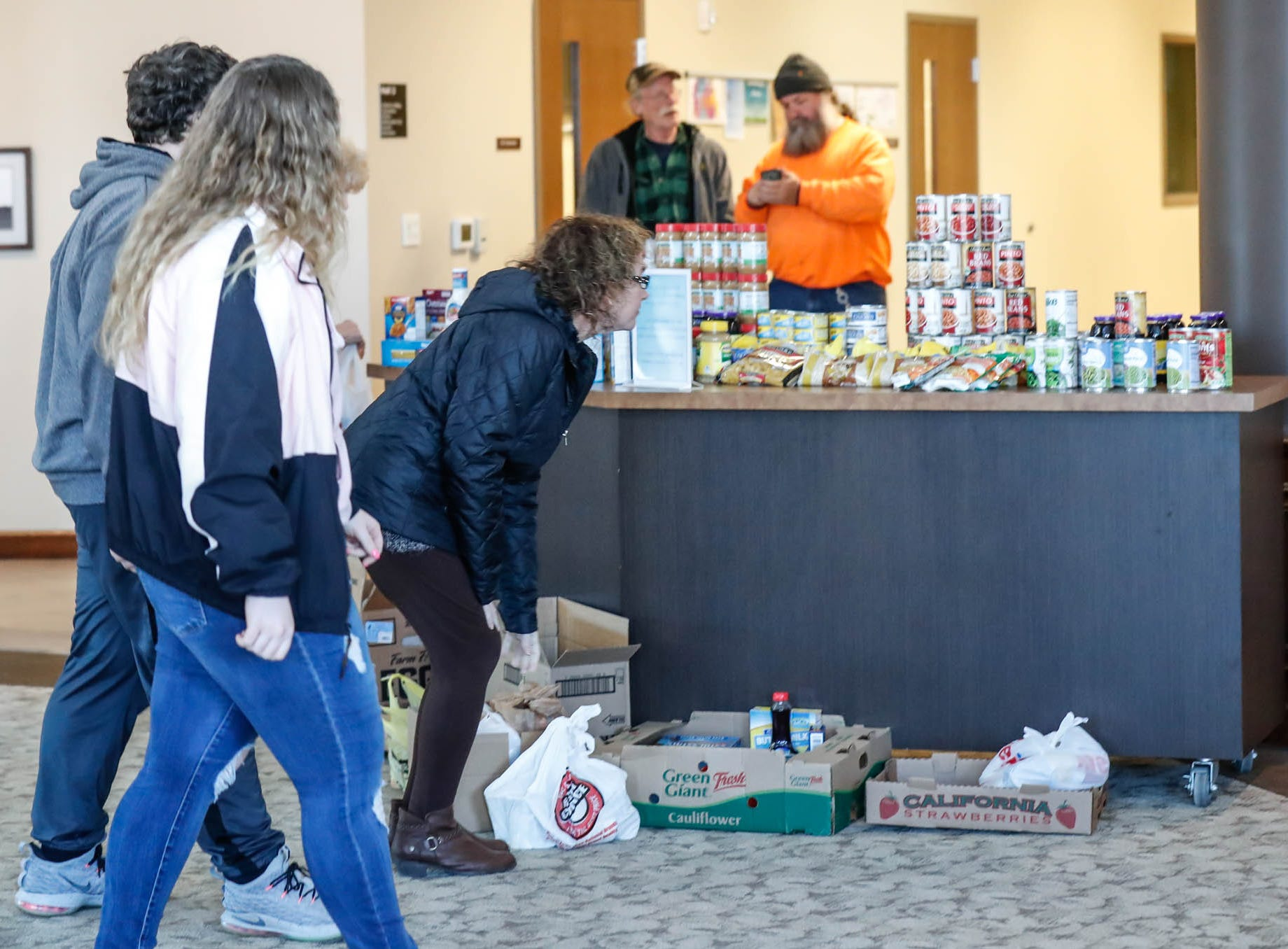 Two years after Delphi's Abby Williams and Libby German were murdered, their families hold a community prayer remembrance with canned food drive at Delphi United Methodist Church 1796 US-421, on Wednesday, Feb. 13, 2019.