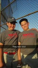 Britton Helmuth and his brother Chandler are both standout baseball players in Harlan, Ind.