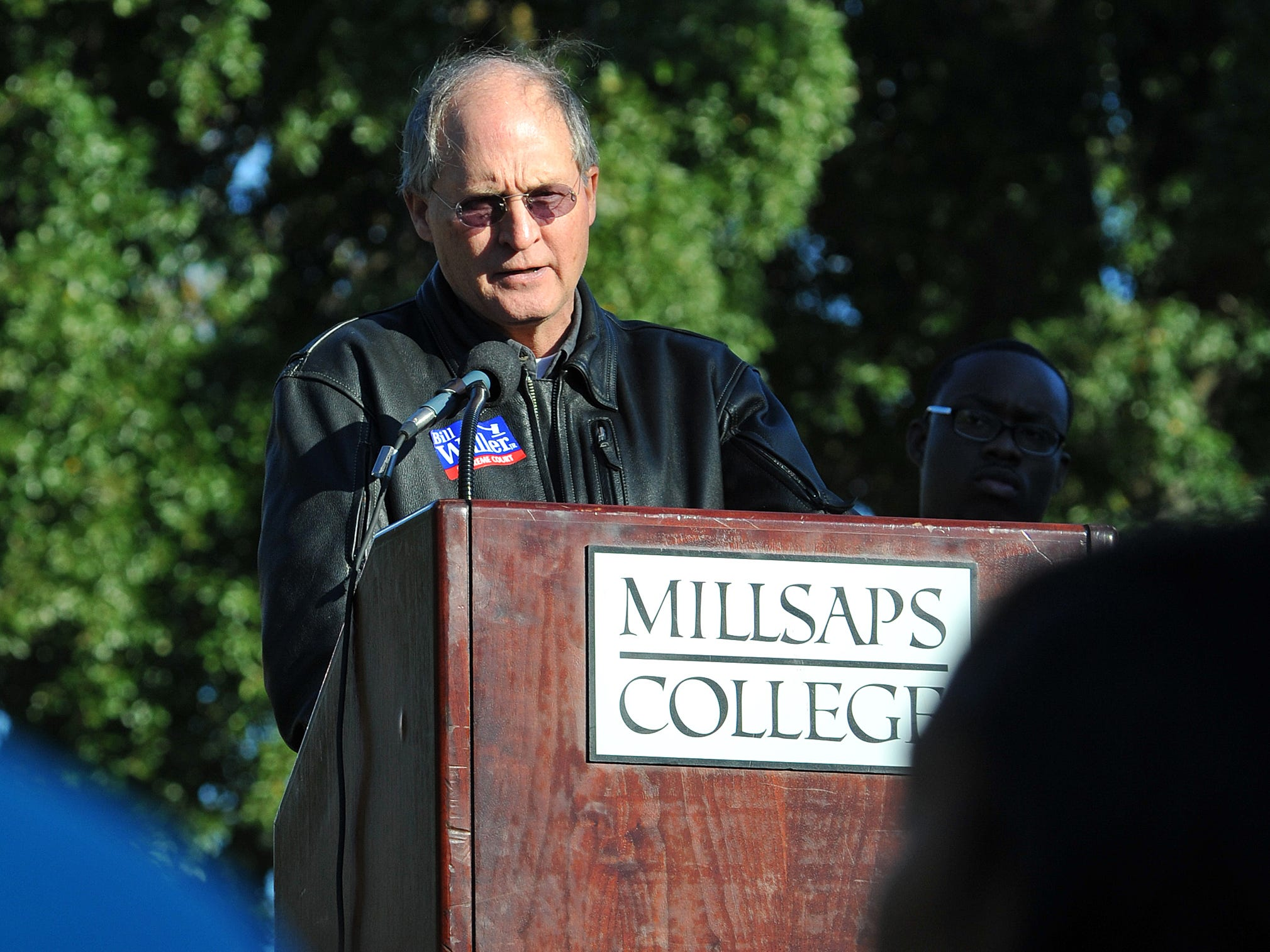 Bill Waller Jr., speaks during the Are You ready to Rock The Vote Rally on the campus of Millsaps College in Jackson.