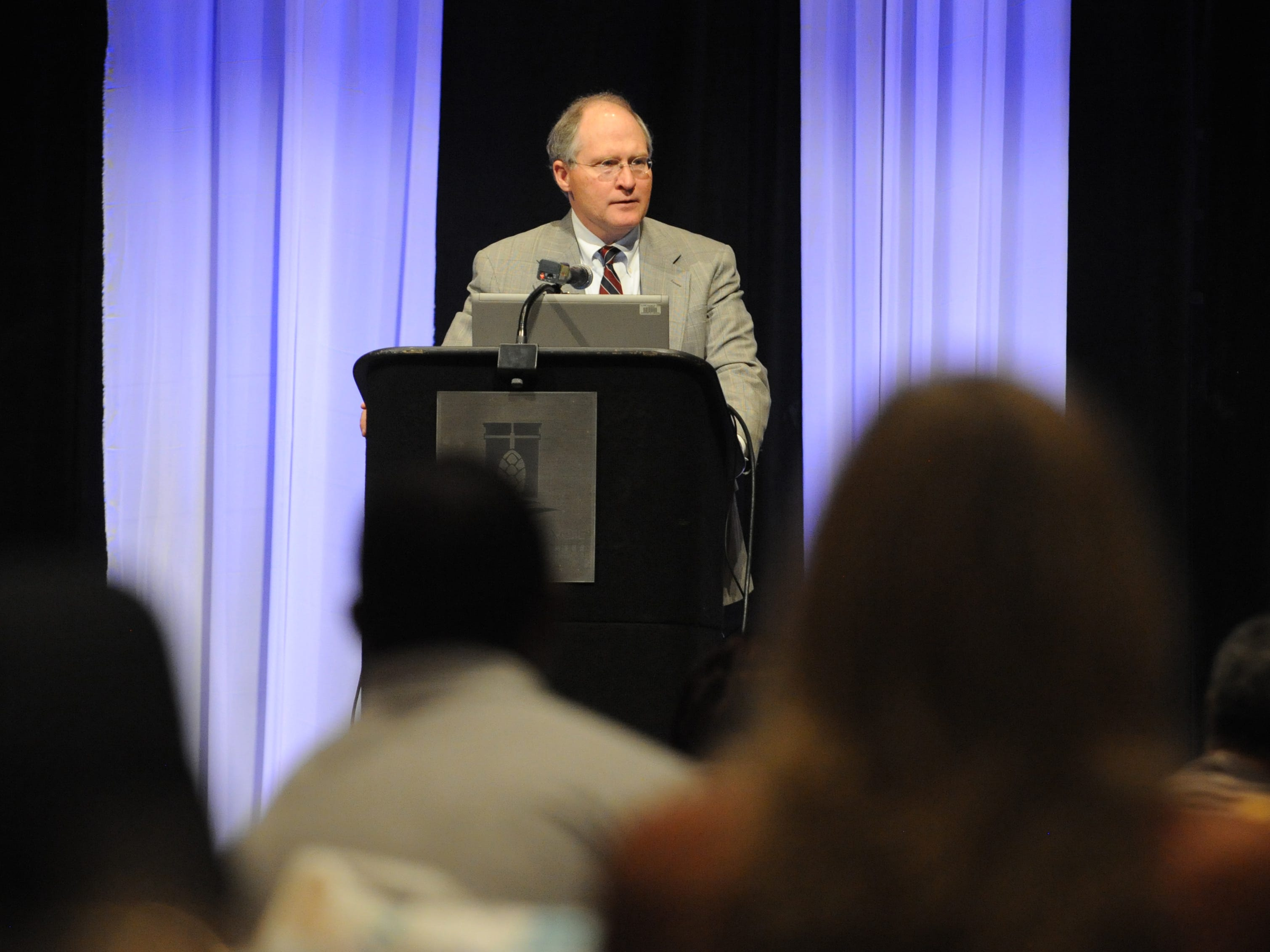 Bill Waller Jr. speaks during the annual Mississippi Association of Drug Court Professionals Conference at the Lake Terrace Convention Center.
