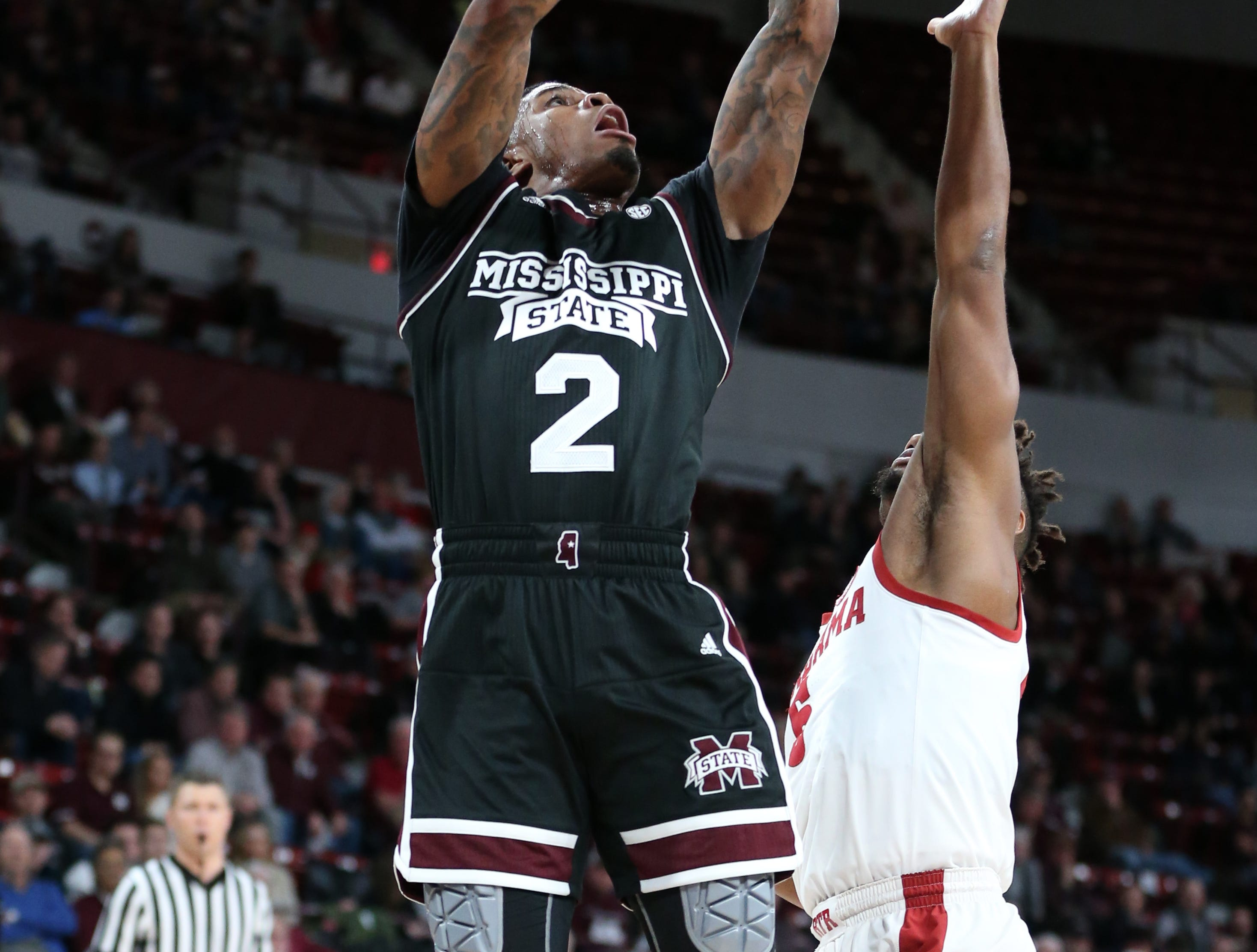 Mississippi State point guard Lamar Peters had a game-high 22 points in the Bulldogs' 81-62 win over Alabama at Humphrey Coliseum on Tuesday Feb. 12.