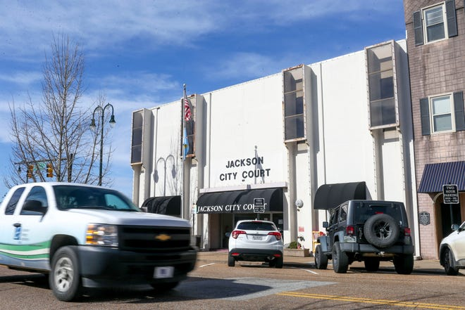 The front of Jackson City Court under blue skies at N Highland and W Lafayette in Jackson, Tenn., on Wednesday, Feb. 13, 2019.