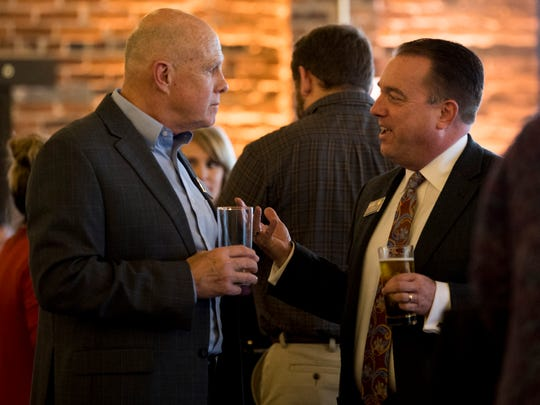Realtor of the Year Jeff Grebe, right, at the Commercial and Residential Real Estate Awards held at The Press Room in Knoxville on Tuesday, Feb. 12.