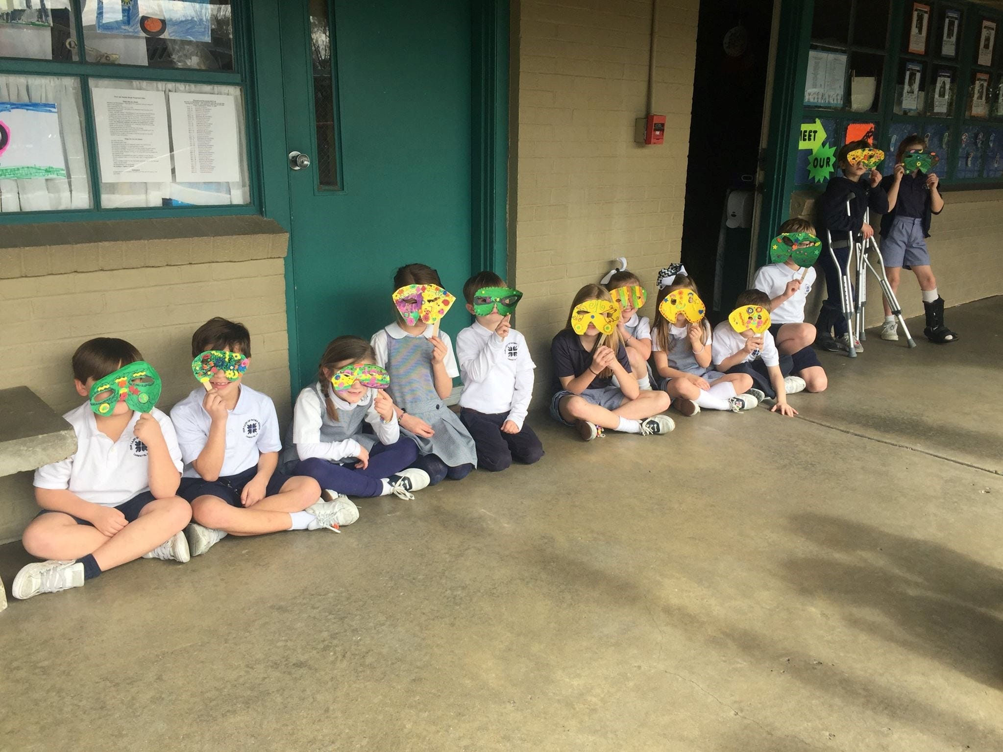 Our Lady of Fatima School students celebrate and learn about Mardi Gras leading up to the observance. Kindergarten classes make floats and masks before having a parade. Pre-K 3 and Campus Ministry also participate in the parade.