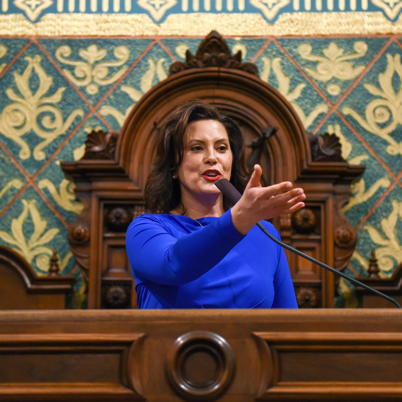 """Five pads from the first State of the Gov State. Gretchen Whitmer """"class ="""" more-section-stories-thumb"""