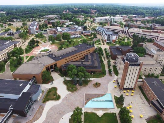Western Michigan University's campus in Kalamazoo, Michigan.