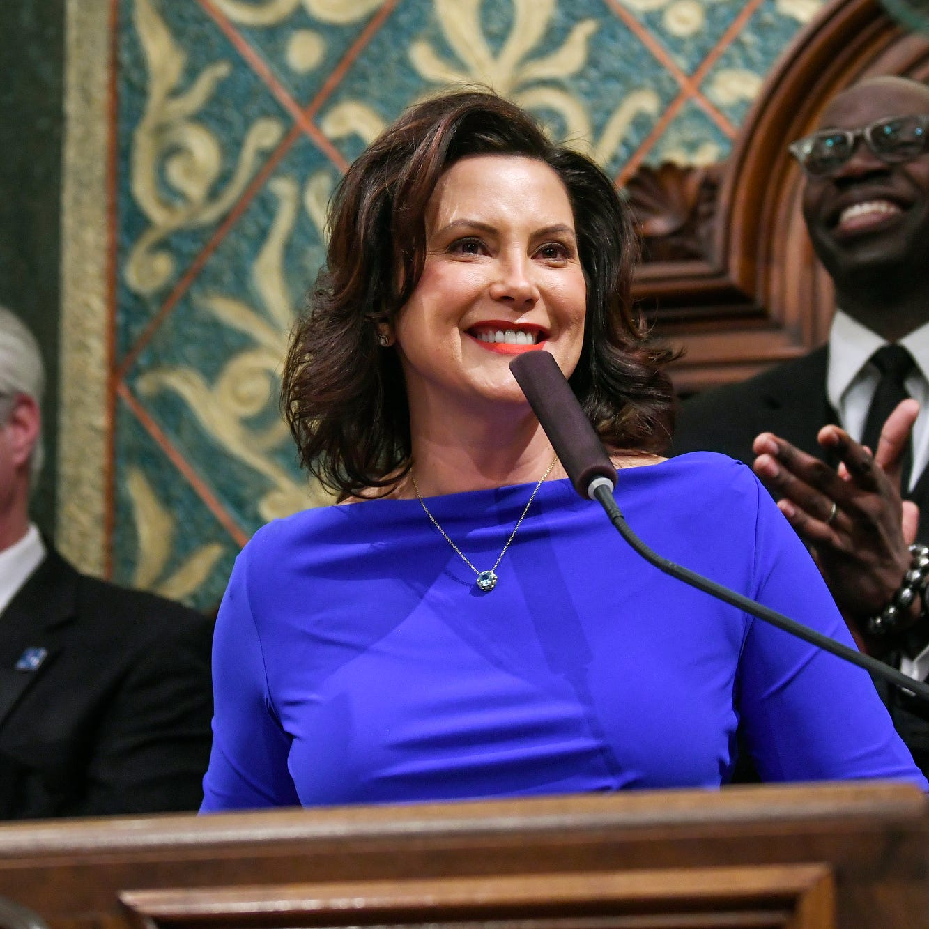 """Mich leaders make. GOP criticizes Whitmer's lack of detail on road fixes """"class ="""" more-section-stories-thumb"""