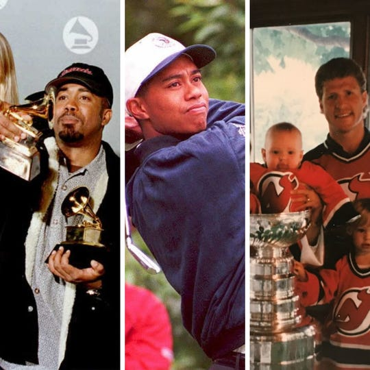 From left: Darius Rucker in 1996, Tiger Woods in 1995 and Danton Cole with the Stanley Cup in 1995. The story of how all three ended up at Rick's American Cafe on the same night back on Aug. 8, 1995, blew up on social media Tuesday night.