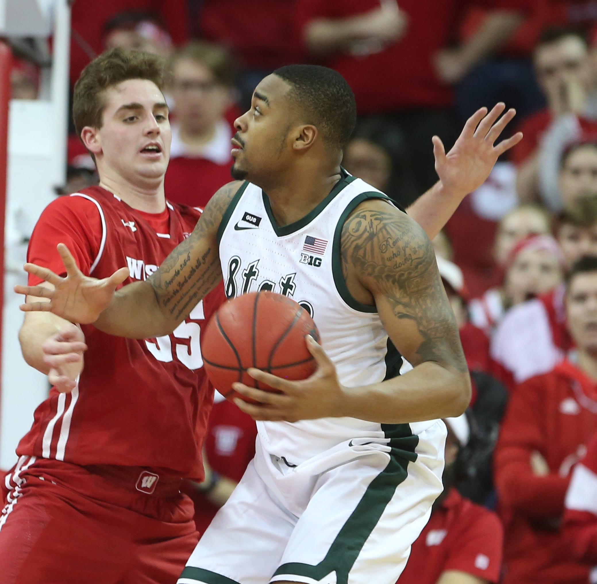 Replay: Michigan State 67, Wisconsin 55 in the Big Ten tournament semifinals
