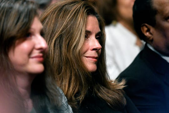 Michigan Supreme Court Chief Justice Bridget McCormack looks on on as Michigan Gov. Gretchen Whitmer delivers her State of the State address on Tuesday, Feb. 12, 2019, at the Michigan State Capitol in Lansing.