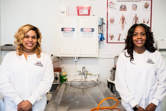 Madeline Lyles, left, and Dana Taylor opened After Life Mortuary Services in October 2018. The new business is the first black women-owned mortuary in Memphis.