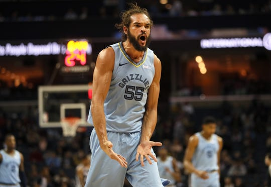 The Grizzlies' Joakim Noah turned 34 on Monday.