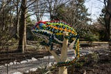 Polar bears, butterflies and even a giant dodo are on exhibit at the Memphis Zoo — each made from thousands of Lego bricks.