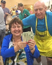 Claire Barker, Mary Ann Murphy and Larry Purvis, with Bingo Committee member Bernie Seidman, were all big winners at Monday Night Bingo held every week at the Jewish Congregation of Marco Island, 991 Winterberry Drive.