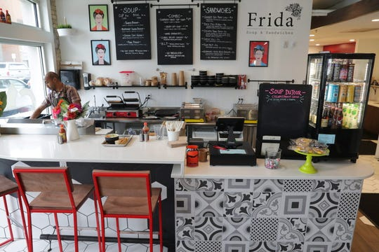 Soup and sandwiches get a chef's creative flair at Frida at Crossroads Collective. The stall is by the owners and chef of Tess, the contemporary American restaurant on the east side.