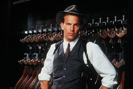 "Kevin Costner is federal lawman Eliot Ness in ""The Untouchables."""