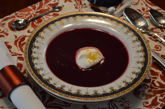 Dee Nierzwicki, owner of Pedal'rs Inn Bed and Breakfast, sometimes serves blueberry soup with breakfast.