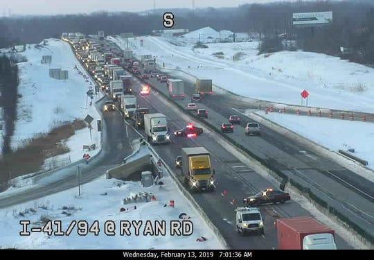 Emergency road repairs have shut down I-41/94 at Ryan Road.