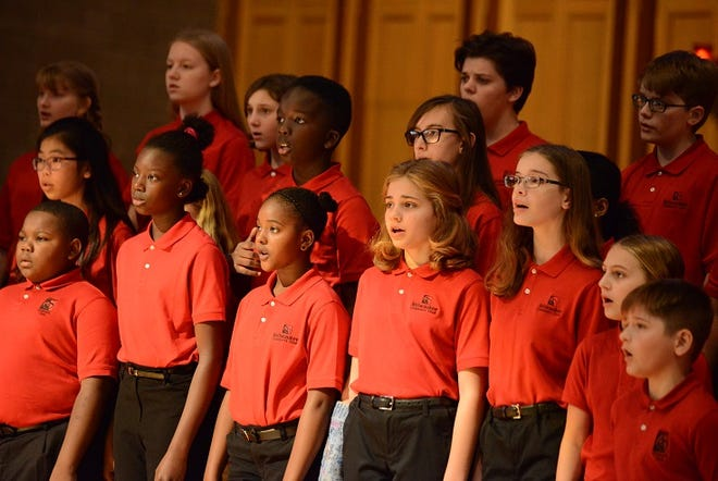 These youths are intermediate members of the Milwaukee Children's Choir.