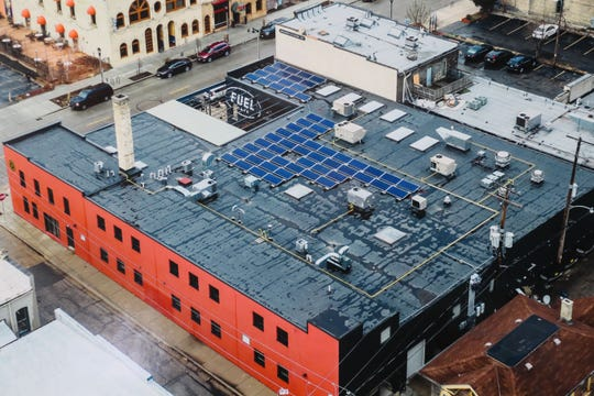 Fuel Cafe, at 630 S. 5th St., installed 60 solar panels on its roof, which will produce about 25,000 kilowatt-hours of energy annually.