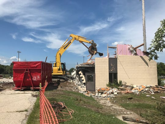 The Logemann Community Center in Mequon was demolished on Aug. 1, 2018. The city of Mequon plans to reconfigure and reconstruct the parking lots for Mequon City Hall and the former Logemann Center site.