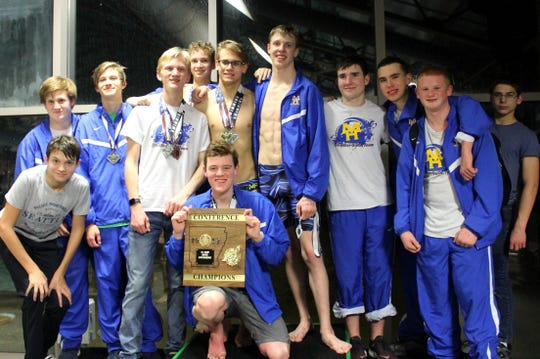 The Mountain Home Bombers won the 5A-East District swim meet held Monday at Paragould.