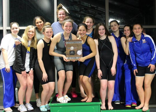 The Mountain Home Lady Bombers placed second at the 5A-East District swim meet held Monday at Paragould.