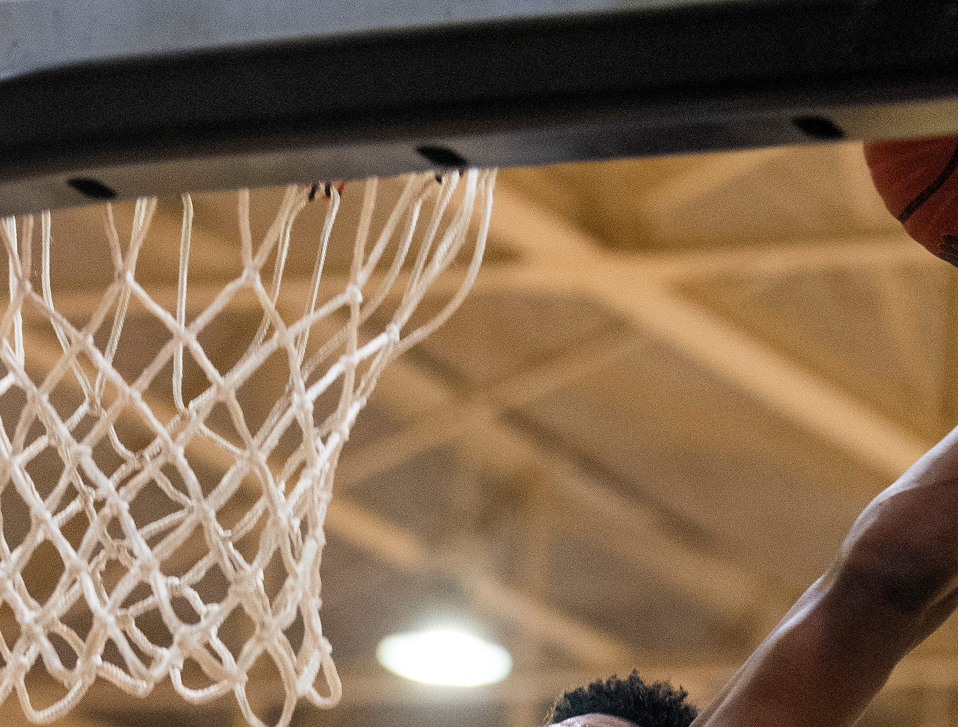 Lanier's Rongie Gordon (30) dunks against Northview at the Lanier campus in Montgomery, Ala., on Tuesday February 12, 2019.