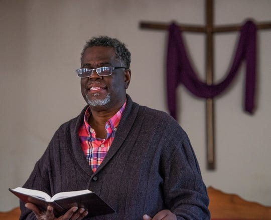 Ken Austin, executive director of the Mercy House and pastor at New Walk of Life Church, at his church in Montgomery, Ala., on Wednesday February 13, 2019.