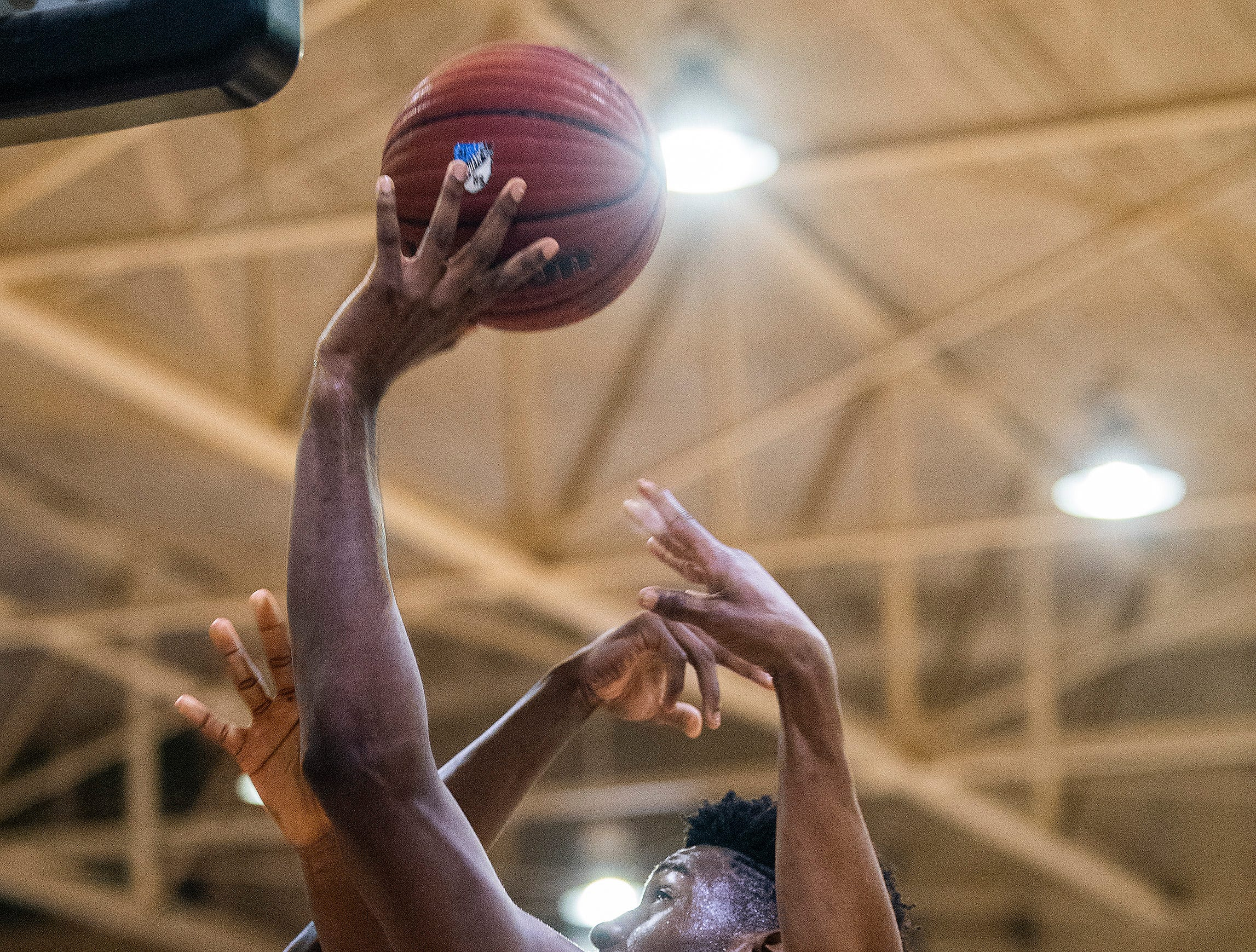 Lanier's Rongie Gordon (30) shoots against Northview at the Lanier campus in Montgomery, Ala., on Tuesday February 12, 2019.
