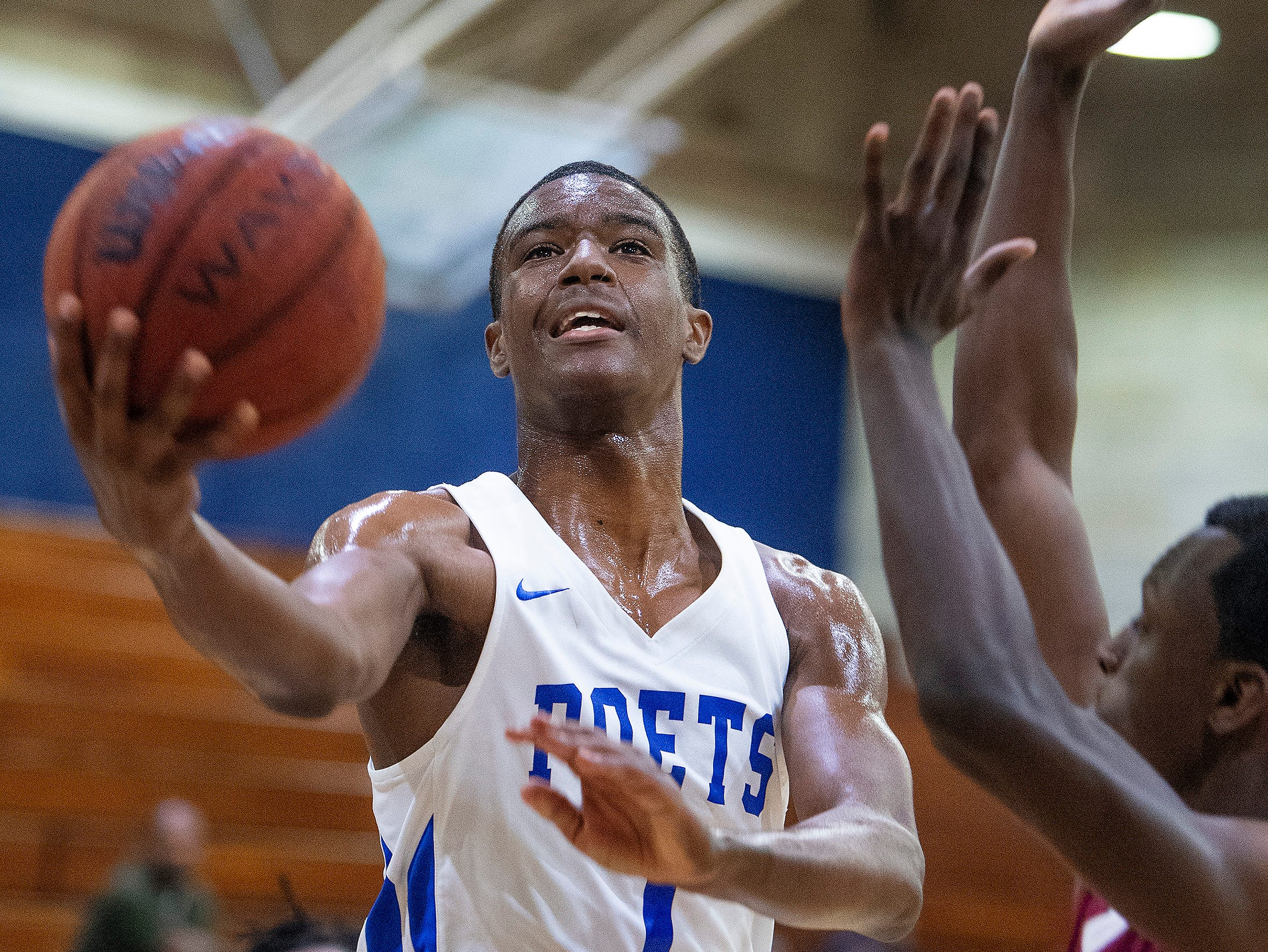 Lanier's Kendon Knight (1) against Northview at the Lanier campus in Montgomery, Ala., on Tuesday February 12, 2019.
