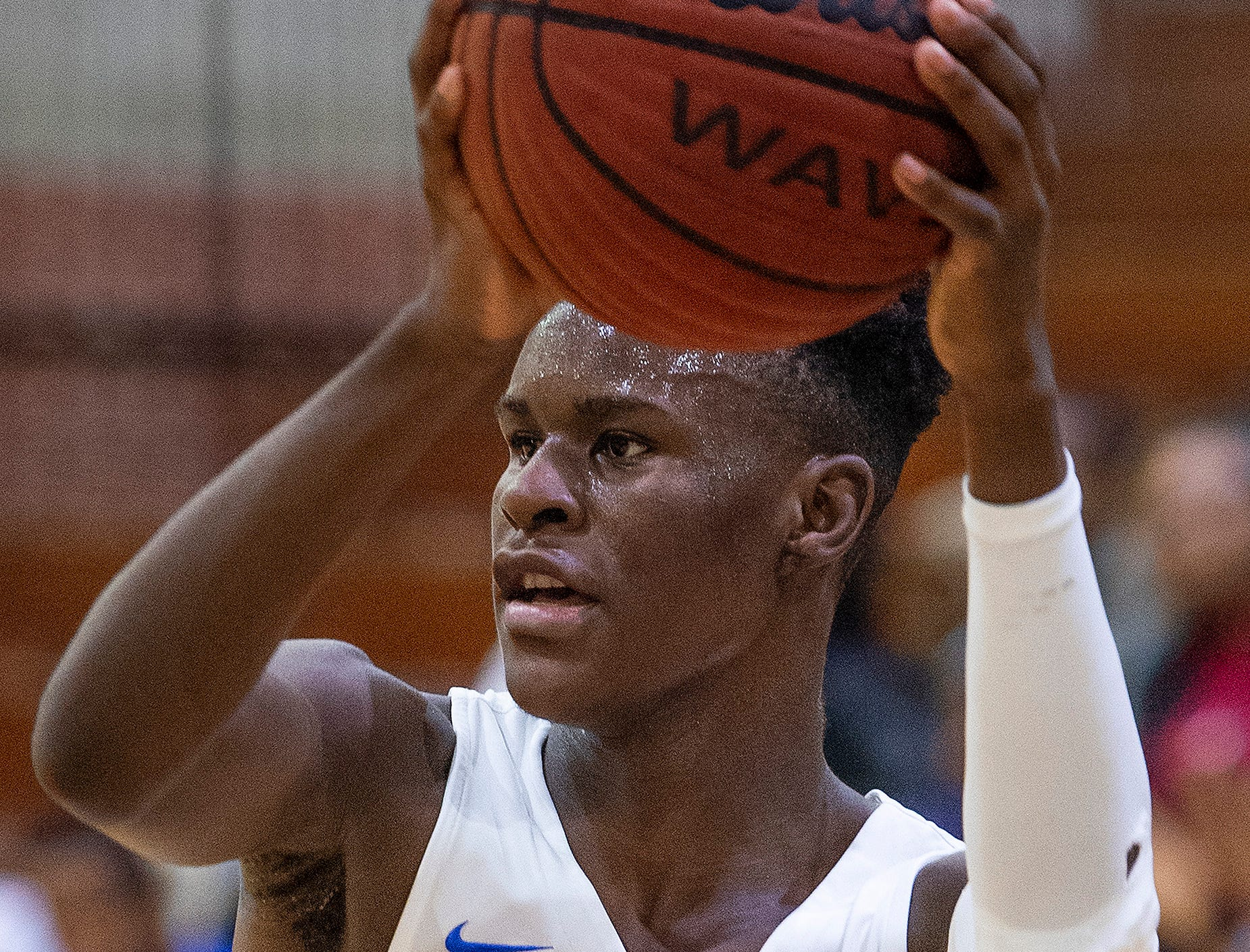 Lanier's Jamaine Jones (4) against Northview at the Lanier campus in Montgomery, Ala., on Tuesday February 12, 2019.