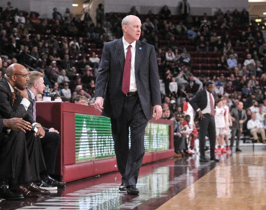 Feb 12, 2019; Starkville, MS, USA; Mississippi State Bulldogs head coach Ben Howland during the second half against the Alabama Crimson Tide at Humphrey Coliseum. Mandatory Credit: Justin Ford-USA TODAY Sports
