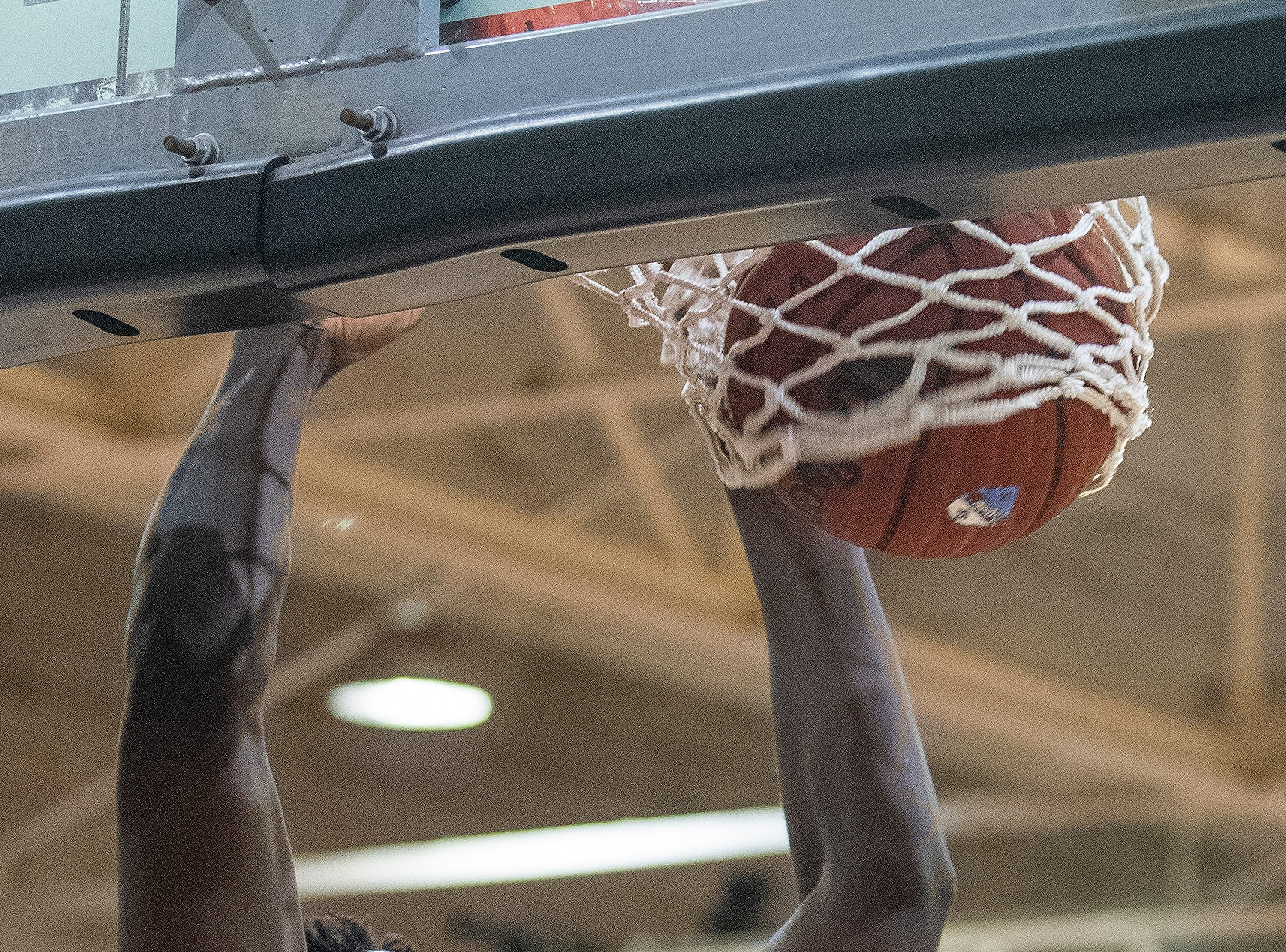 Lanier's Antwan Burnett (11) dunks the ball against Northview at the Lanier campus in Montgomery, Ala., on Tuesday February 12, 2019.