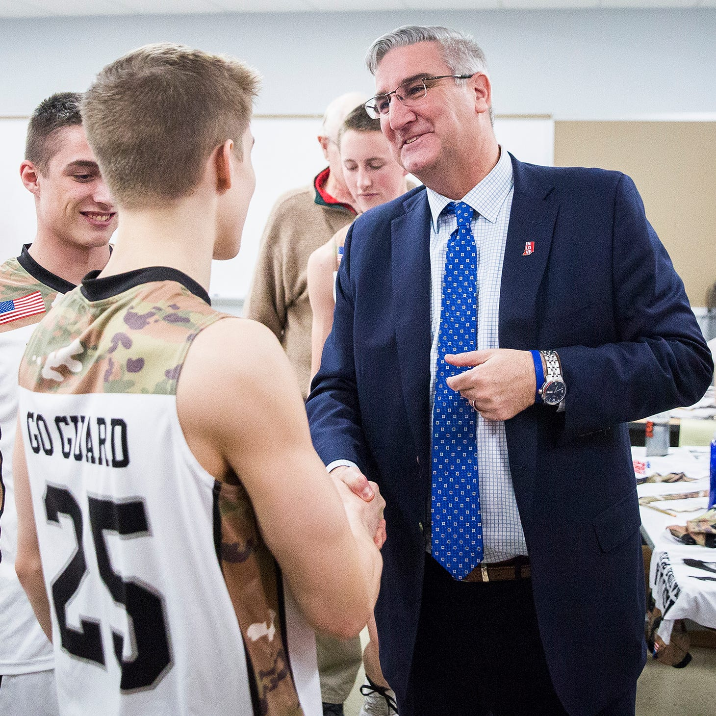 Gov. Holcomb: Luke Brown, Blackford basketball are 'everything I imagined and more'