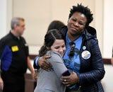 Shaundelle Brooks, mother of Waffle House victim Akilah DaSilva, speaks after Waffle House shooting suspect Travis Reinking's hearing.