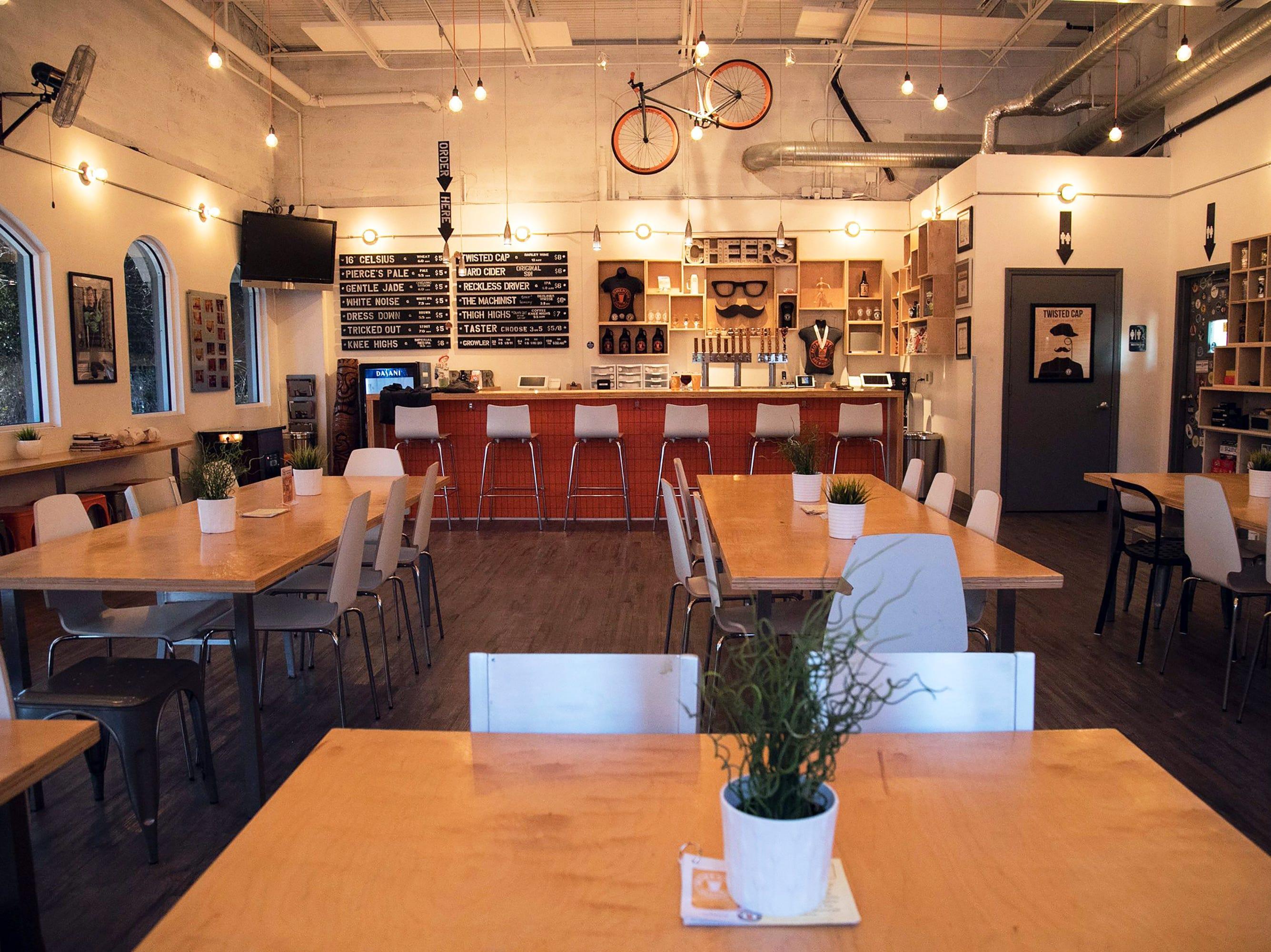 The tasting room at Momentum Brewhouse on Bonita Beach Road in Bonita Springs.