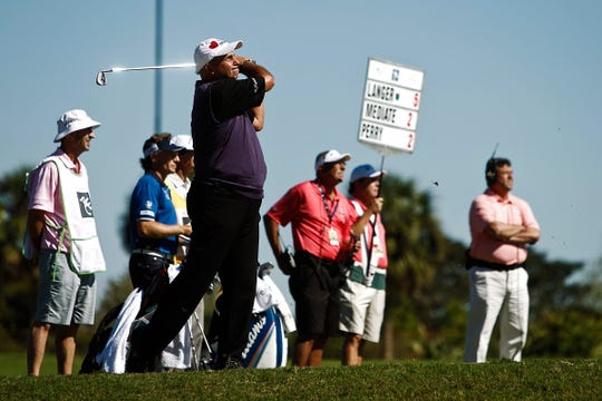 Rocco Mediate, a Calusa Pines Golf Club member, plays the ACE Group Classic in 2014, three years before he quit alcohol. Mediate revealed that news recently in a Golf Channel interview.