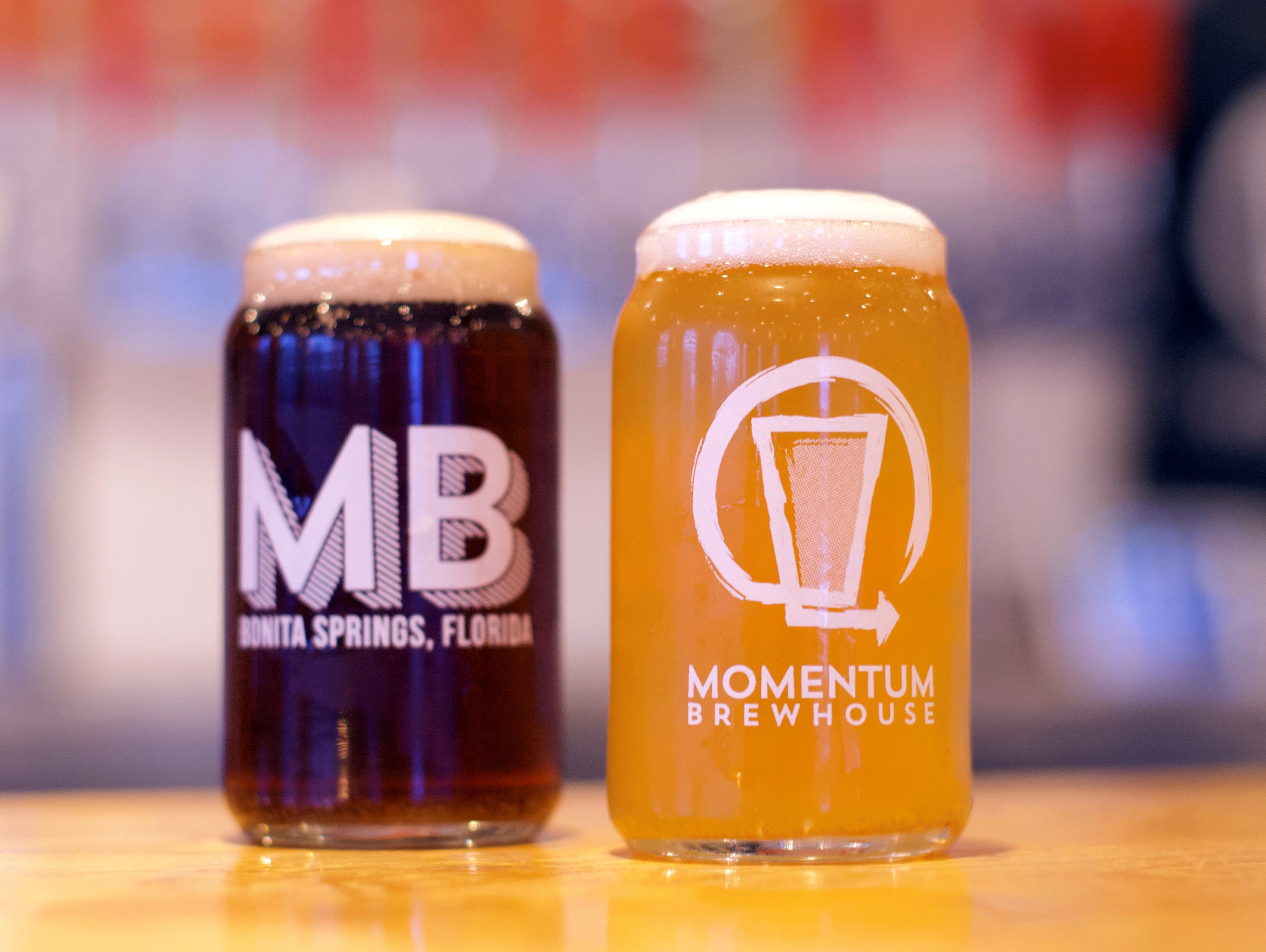 Momentum Brewhouse carries 12 of its beers on tap now but plans to at least double that when it relocates this spring in Bonita Springs.