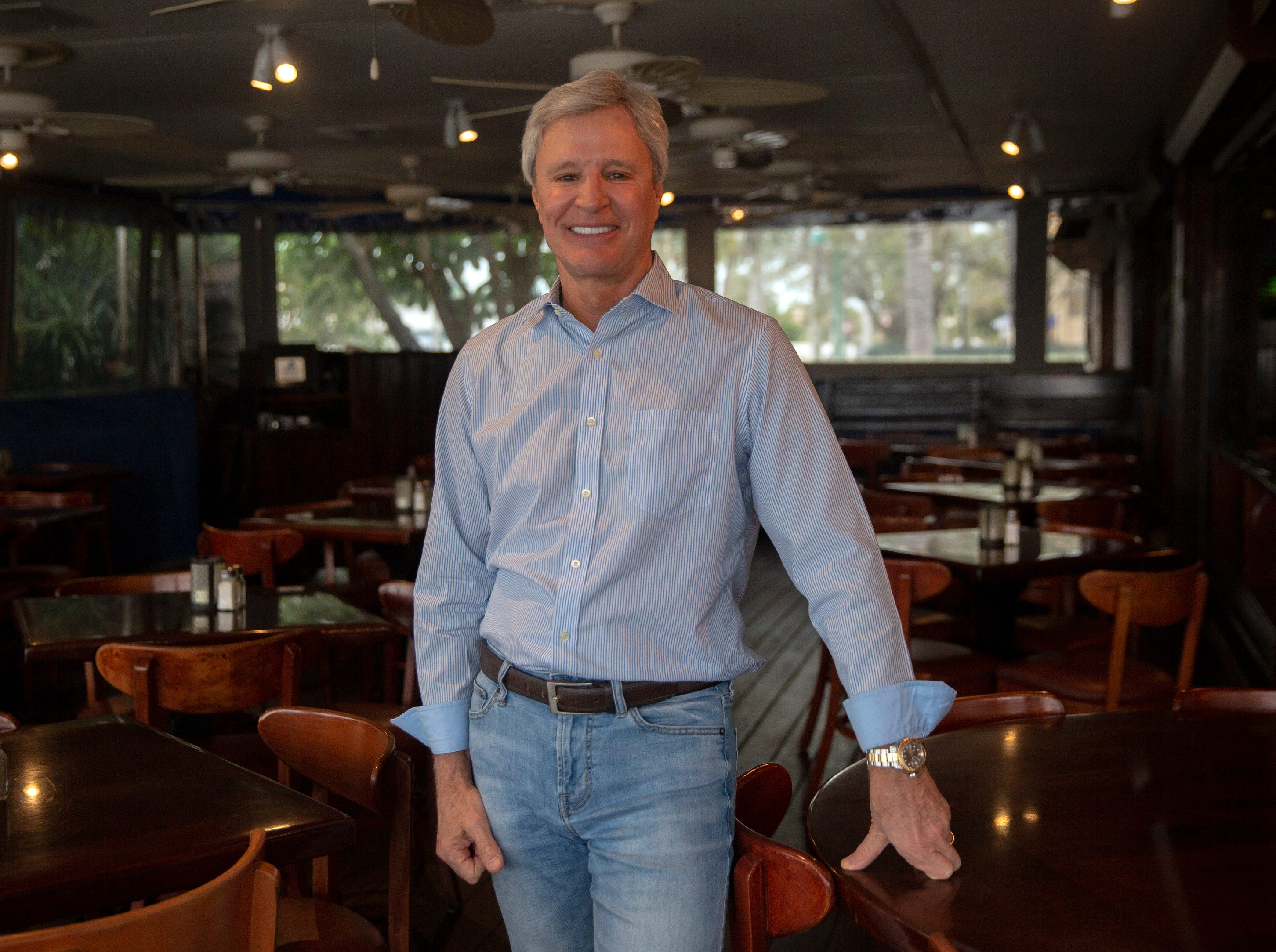 T.E.I. Industries Founder, President and C.E.O. Doug Traina, poses for a portrait, Wednesday, Feb. 13, 2019, at The Dock restaurant in Naples. Traina's company is the new owner of The Dock restaurant.
