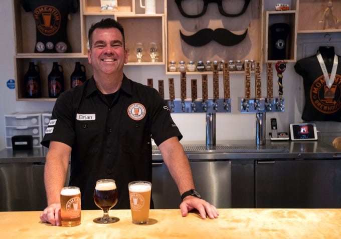 Momentum Brewhouse owner Brian Hahn decided to open a brewery in Bonita Springs after the company he was working for as an industrial engineer closed. He had been brewing beer at home for years.