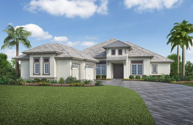 Stock Development's furnished Livia model at Isles of Collier Preserve in Naples.