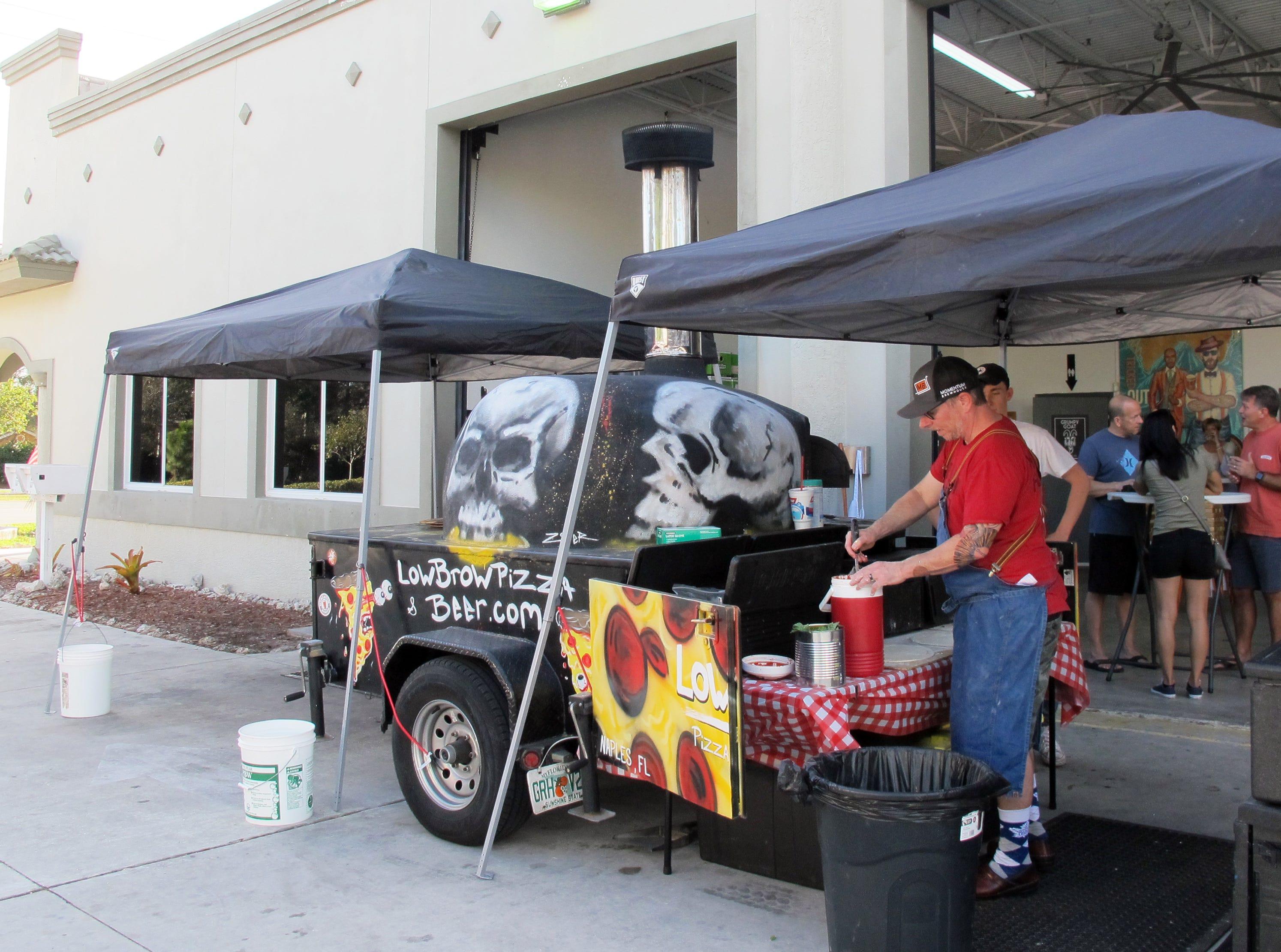 Chris Jones' LowBrow Pizza was the food vendor Sunday, Feb. 10, at Momentum Brewhouse on Bonita Beach Road in Bonita Springs.