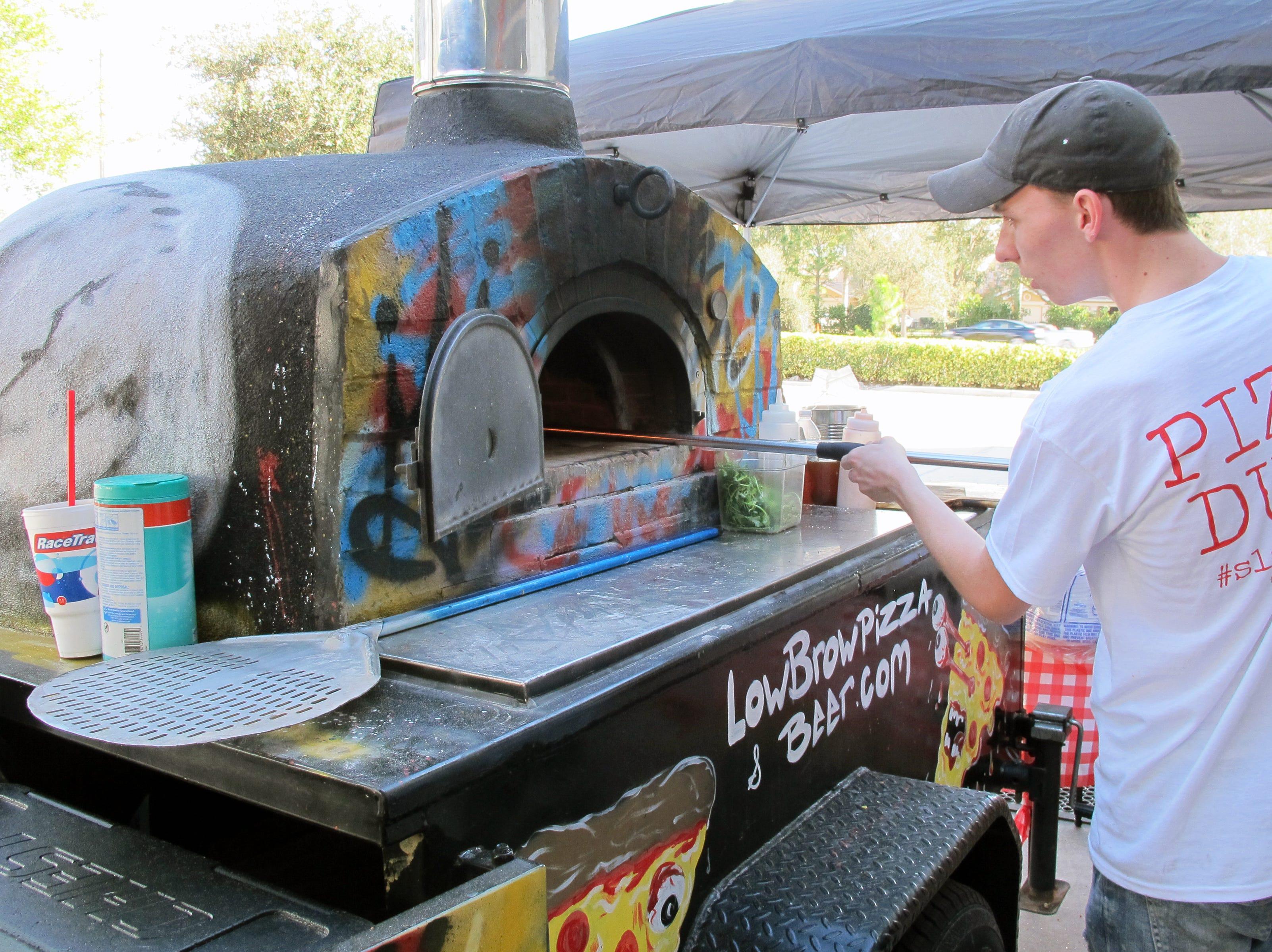 LowBrow Pizza was the food vendor Sunday, Feb. 10, 2019, at Momentum Brewhouse on Bonita Beach Road in Bonita Springs.