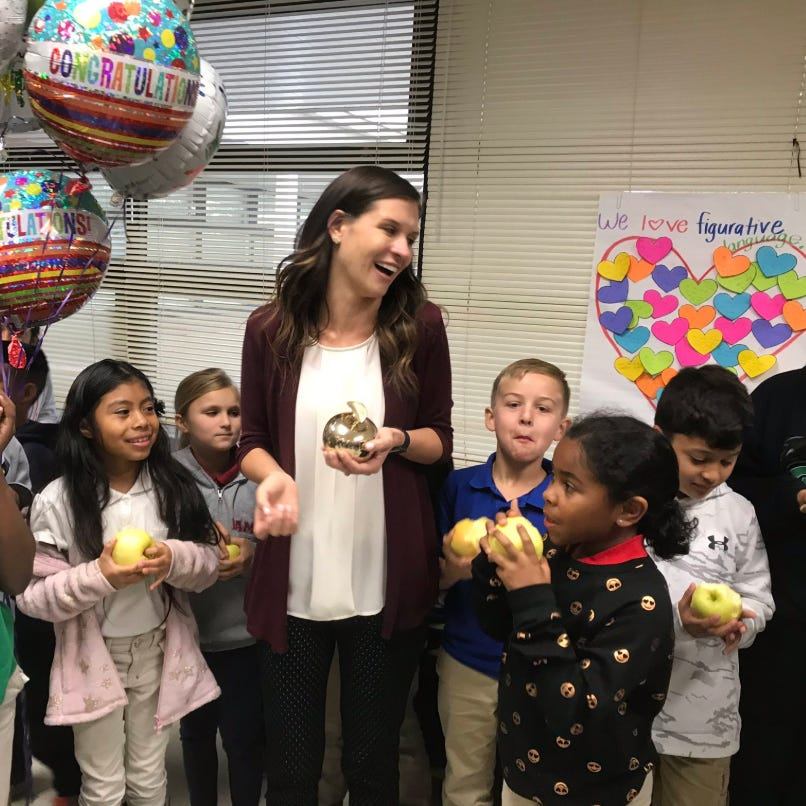 Sights and sounds: Collier County teachers surprised with Golden Apples
